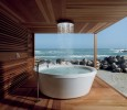 Bathtub with view on the sea