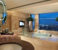 Luxury bath with tv and view