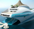 The stern of the Yacht Island Design paradise