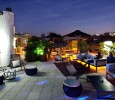 The terraces of the Claris Hotel in Barcelona
