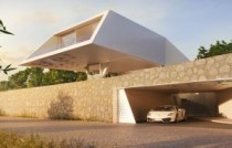 Villa Design Villa F Vue du garage HORNUNG AND JACOBI ARCHITECTURE