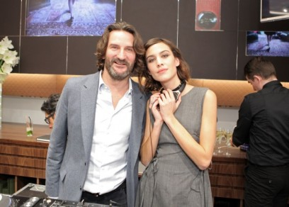 Longchamp Champs Elysees boutique Frederic_Beigbeder_Alexa_Chung