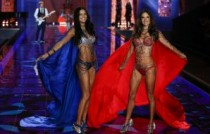 Victorias Secret Show 2014 Adriana Lima and Alessandra Ambrosio at the 2014 Victorias Secret Fashion in London