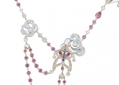 Cerfs-Volants, Van Cleef & Arpels necklace, pink gold, pink and mauve sapphires, white gold, white and grey mother-of-pearl, diamonds_705257