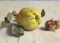Galerie ArtVera's Geneve 18_Henk Helmantel, Quince and medlars, 2011, oil on panel, 26 x 36 cm