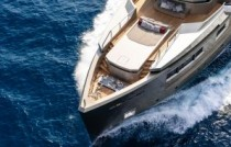 Super yacht cacos v sea top view