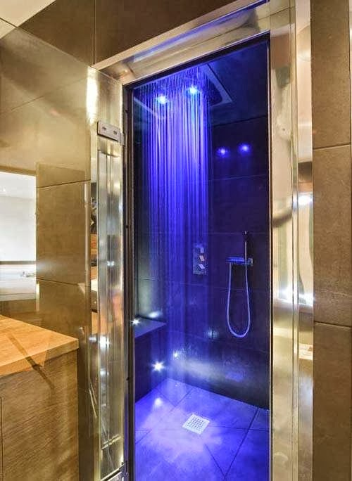 Rain Shower with blue leds