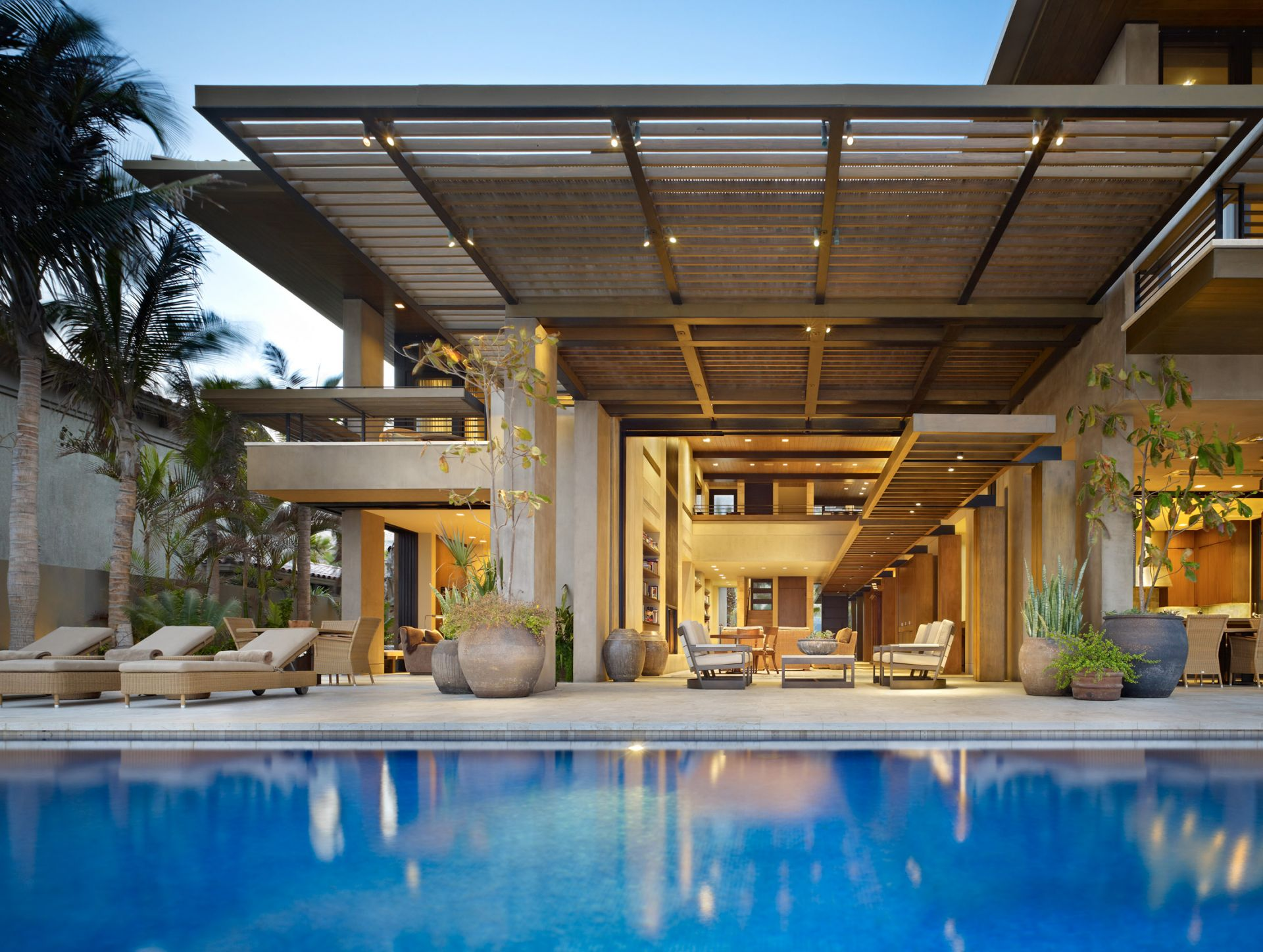 Modern villa in mexico by olson kundig architects Home architecture in mexico