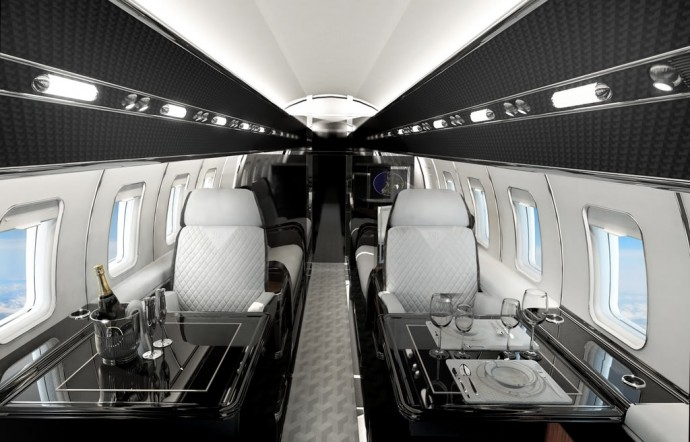 Beautiful Jones U0026 Bowen Private Jet Interior