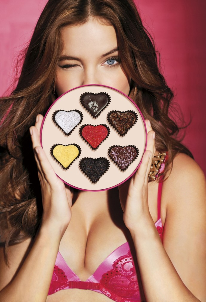 Valentines 2013 Barbara Palvin Chocolates Victorias Secret