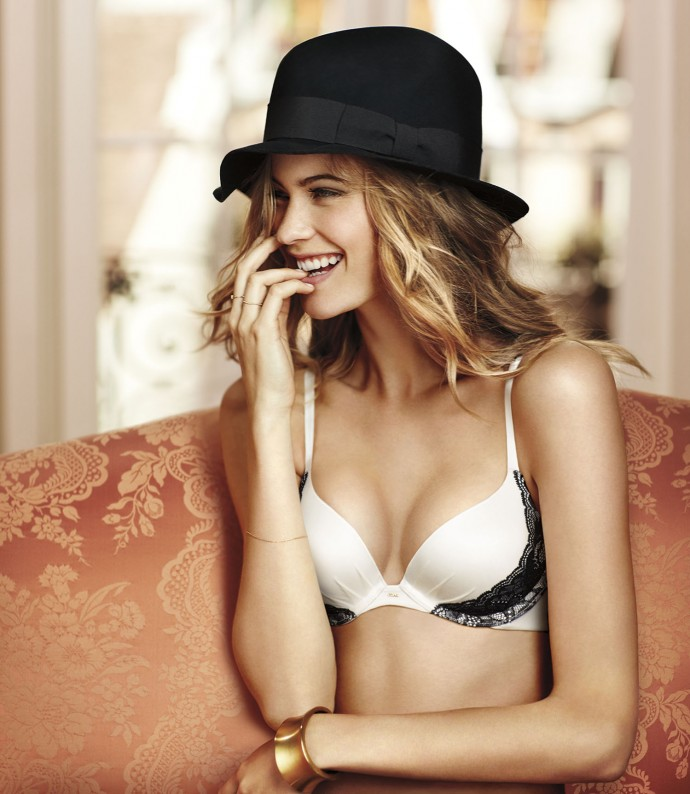 push up bra black and white Victoria Secret