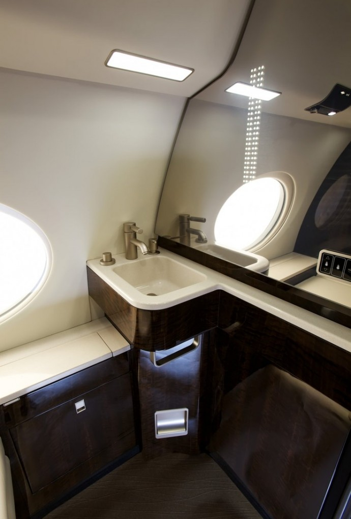17 of the most beautiful private jets interiors in 2013 for Bathroom remodel for 6000