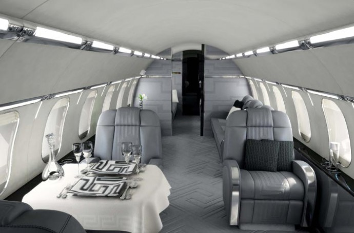 17 of the most beautiful private jets interiors in 2013 for Aircraft interior designs