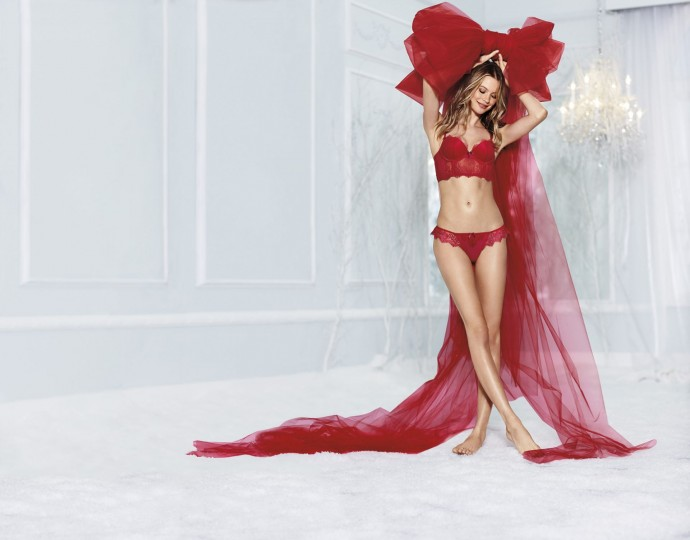 red sexy underwear Victoria Secret