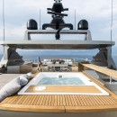 Super yacht cacos V superior deck jacuzzi