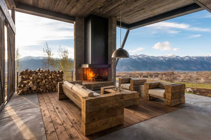 Fireplace countryside luxury