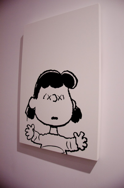 Girl kaws art perrotin