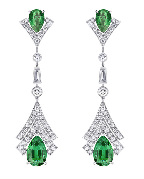 Louis Vuitton - Acte V - Metamorphosis Earrings - Emeralds