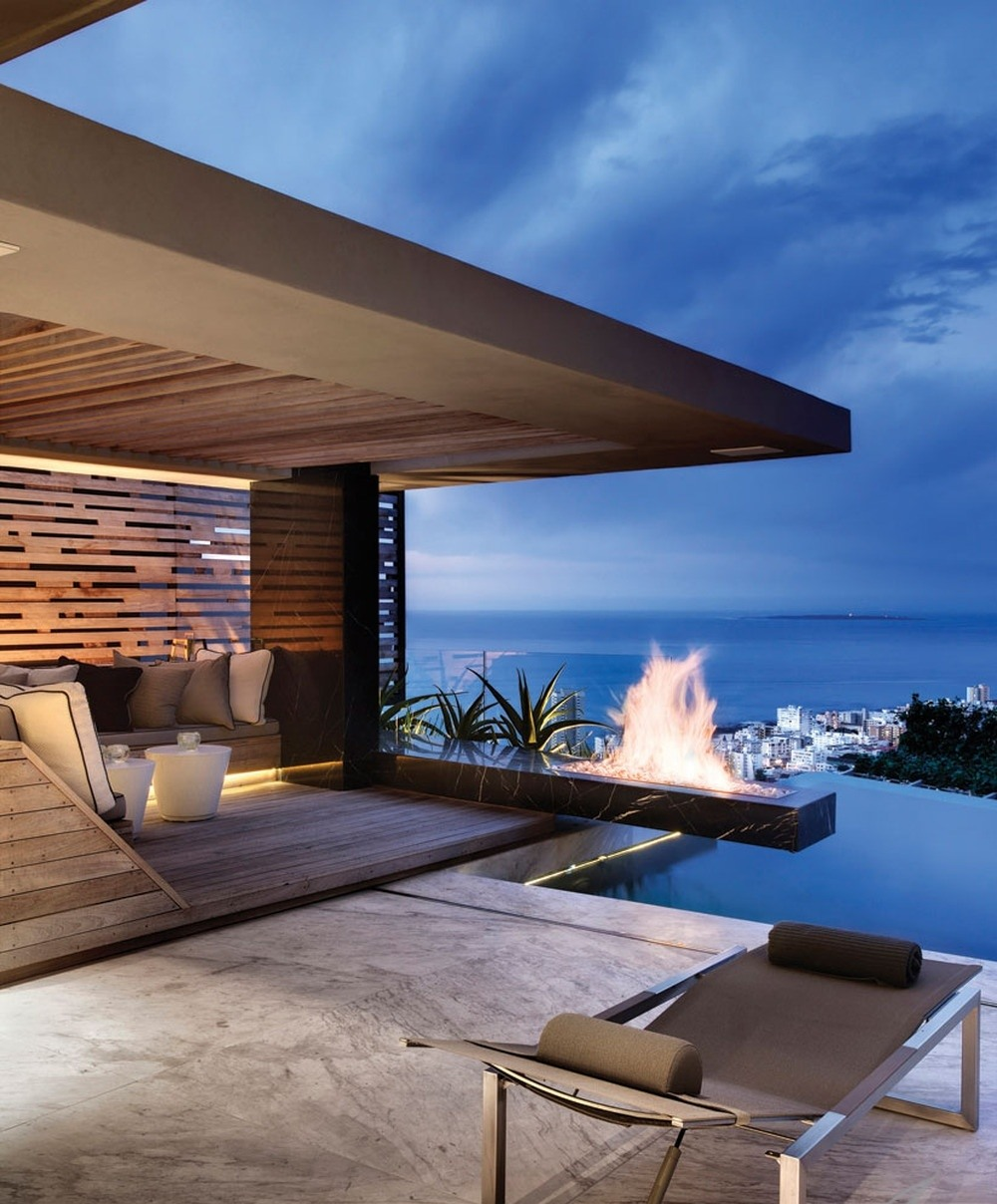 Beautiful Home Design With Modern Vintage Interior Ocean View The 40 Most Beautiful Terraces With Fireplaces
