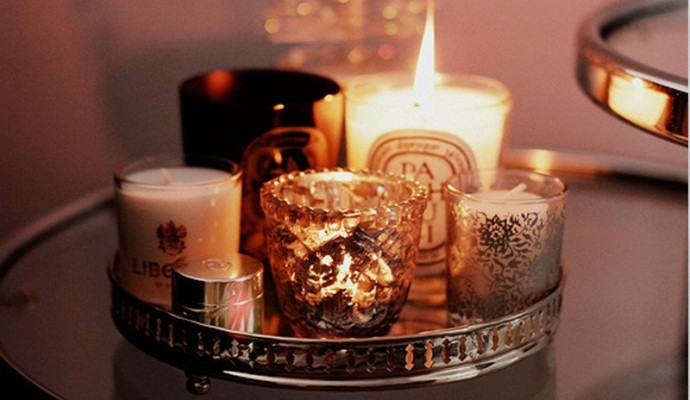 Bougies romantiques luxe