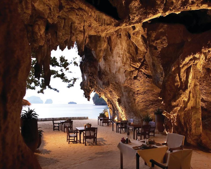 The Grotto restaurant, Krabi, Thaïlande
