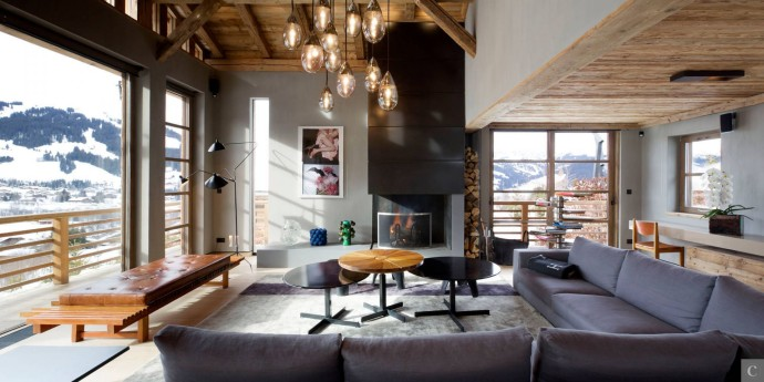 Le Collectionist Chalet Eugenia Cyanella_Megève_Salon_6