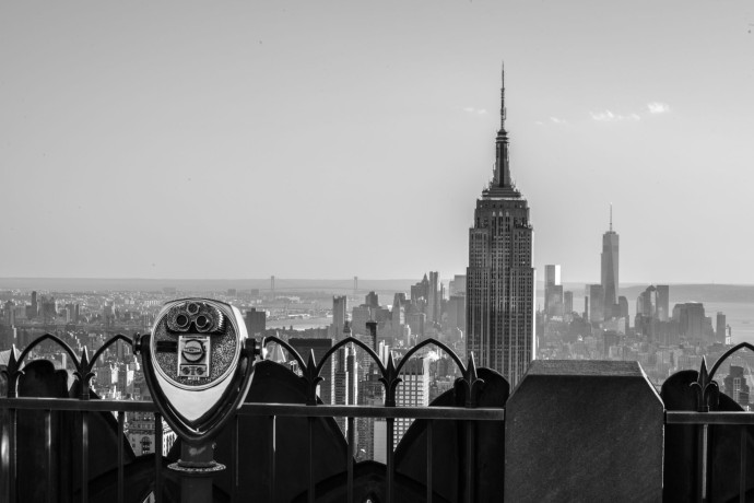 Voyage New York Top of the Rock horizon Rockfeller Center Thomas Van Geete