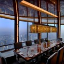 restaurant plus haut monde At.mosphère Burj Khalifa Dubai table