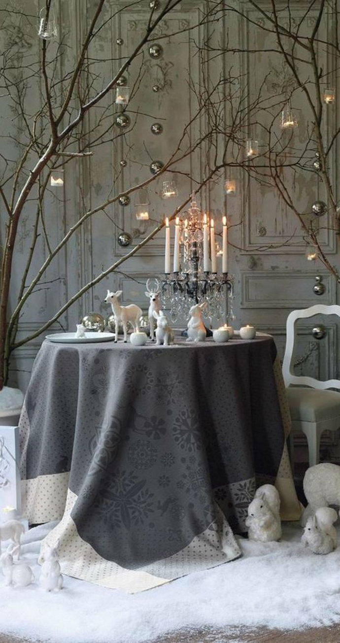 Table ambiance noel gris