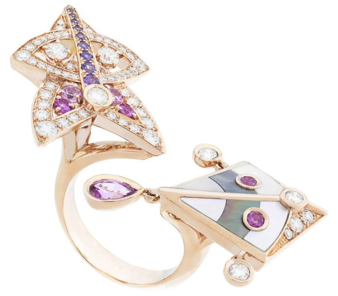 Cerfs-Volants, Van Cleef & Arpels -motif Between the Finger Ring, pink gold, pink and mauve sapphires, mother-of-pearl and diamonds_714780