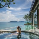 Private jacuzzi and plunge pool at VIP treatment suite