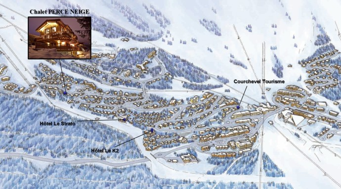chalet Perce neige-map