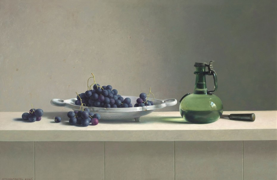 Galerie ArtVera's Geneve 16_Henk Helmantel, Still Life with grapes, 2005, oil on panel, 80 x 122 cm