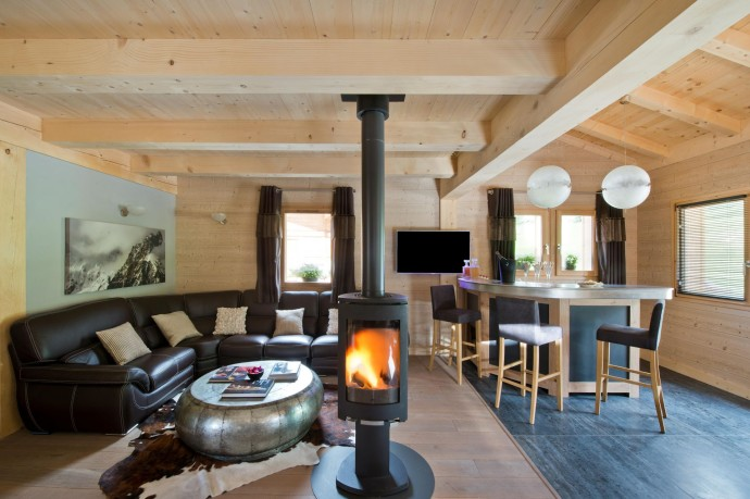 Salon Appart Aravis - Chalet Inarpa&Resort La Clusaz - Photo F.Ducout