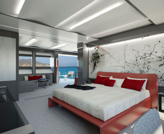 Master bedroom Wider 165 Yacht