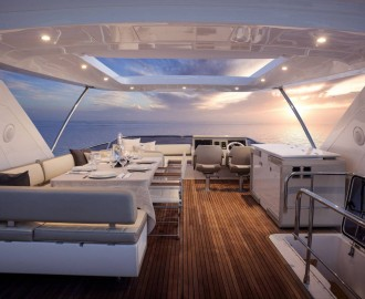 Yacht Azimut 72 Flybridge table