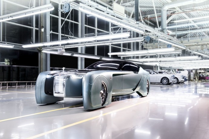 Rolls-Royce Vision Next warehouse