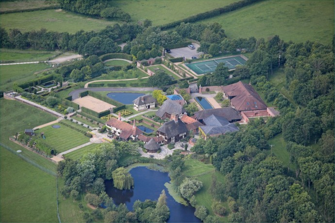 Lisa Marie Presley's Property on Sale aerial view