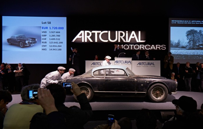 Artcurial motorcars 1956 MASERATI A6G 2000 GRAN SPORT BERLINETTA FRUA - COLLECTION BAILLON - SOLD 2 ME-2,2M$ - AUCTION ROOM ∏ ARTCURIAL