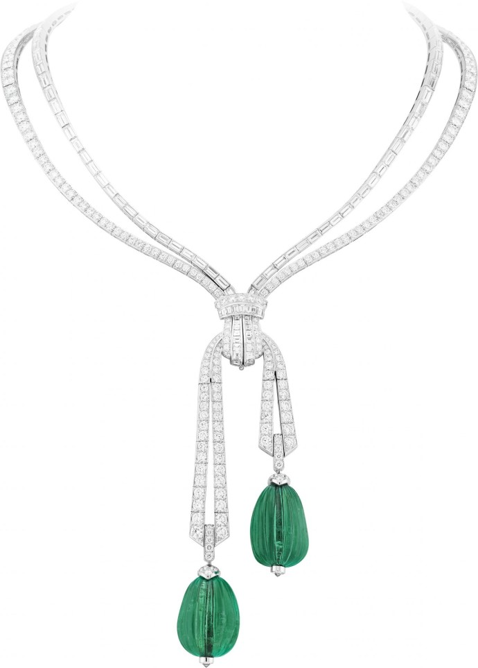 Van Cleef Arpels Emeraudes Collier Grand Opus