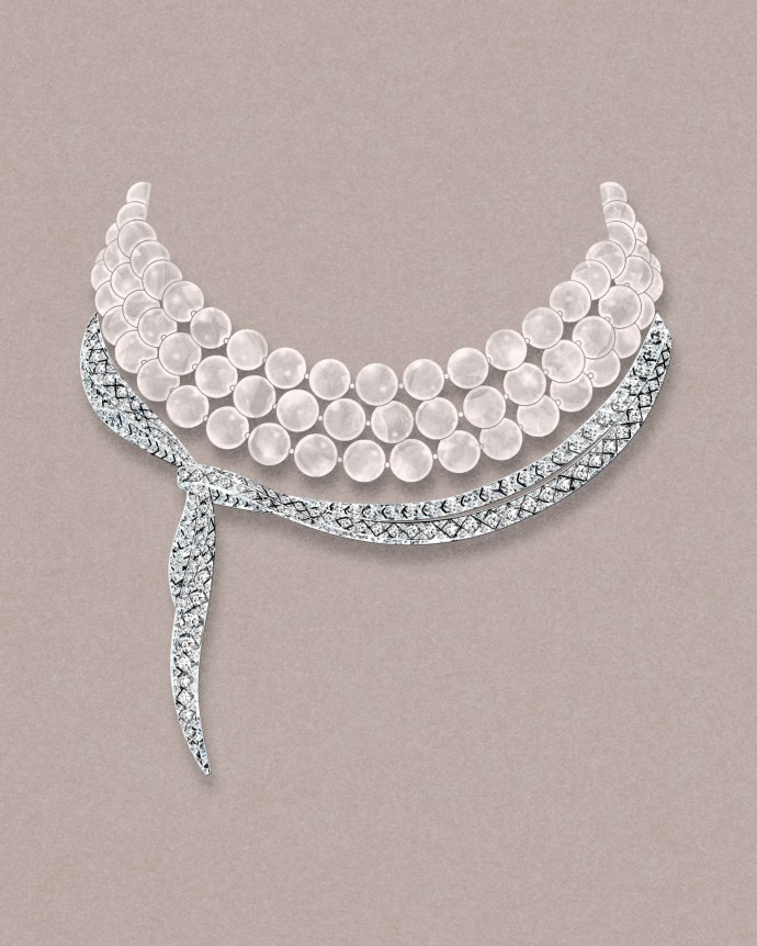 Tiffany Masterpieces collier perles diamants