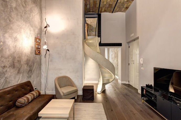 top escalier Residenza Privata Rome