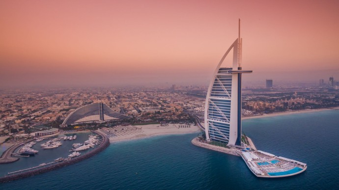 Burj Al Arab Jumeirah - The Terrace - Twin Aerial Pink