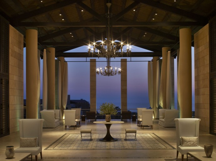 costa navarino The Romanos Lobby 3