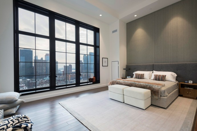 penthouse new york bedroom 425 West 50th Street-4