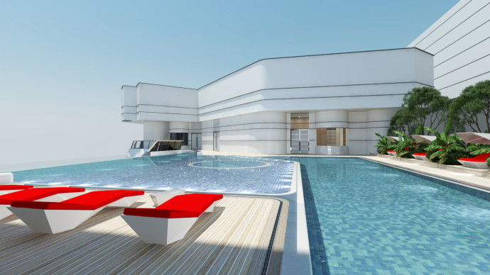 the pavilion bay Pool Area draft view