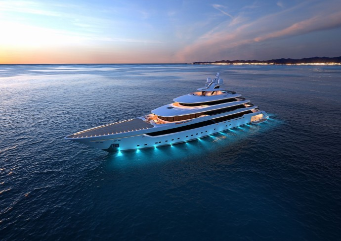 Columbus Yachts megayacht light