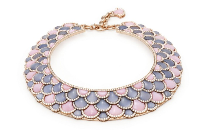 Giampiero Bodino - MOSAICO Irene Necklace - opale and calchedony