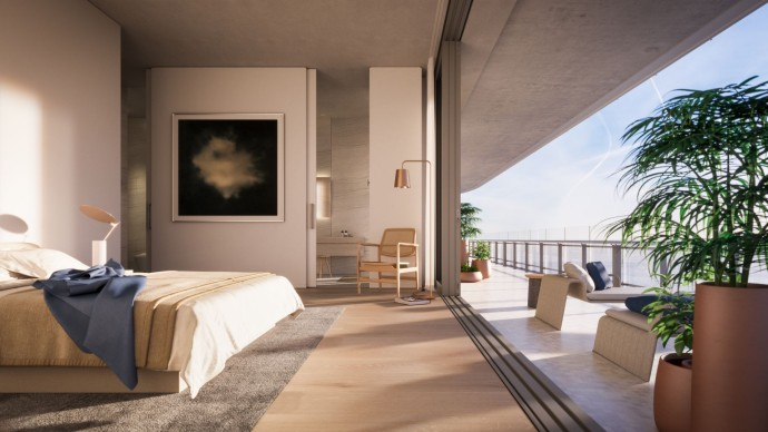 Renzo Piano's first residential project Eighty Seven Park Bedroom