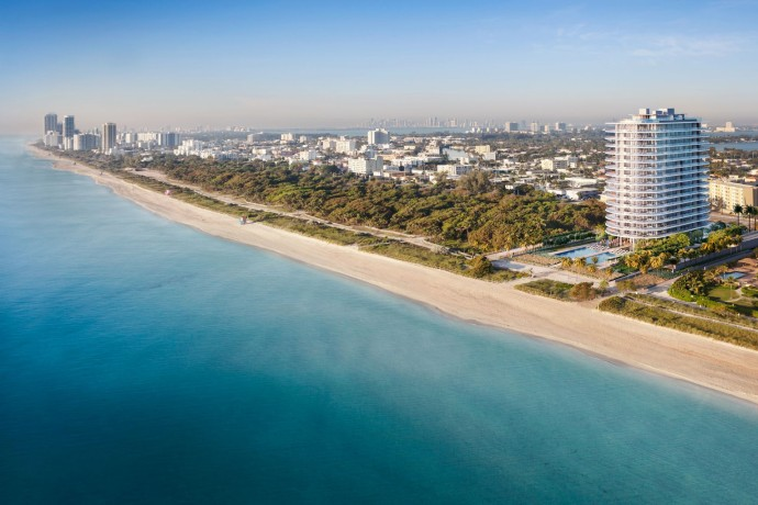 Renzo Piano's first residential project Eighty Seven Park BirdsEyeView